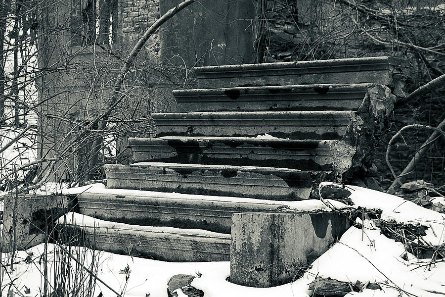 Architecture Photograph - Old Stairs To Nowhere by Jeff Severson