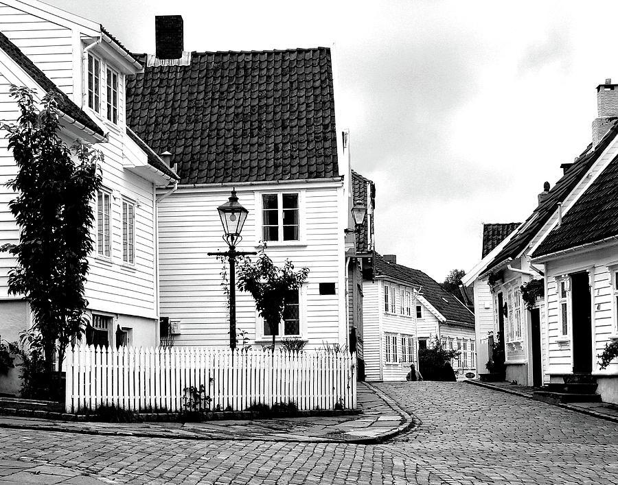 Wood Houses Photograph - Old Stavanger I by Helene Sobol