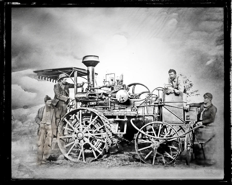 Old Steam Tractor by Mark Allen