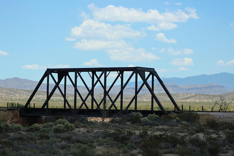 Steel Bridge Photograph - Old Steel Bridge New Mexico Countryside by Colleen Cornelius
