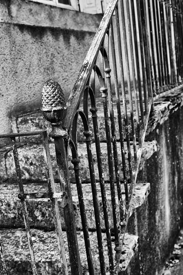 Old Steps Photograph - Old Steps And Railings by Georgia Fowler