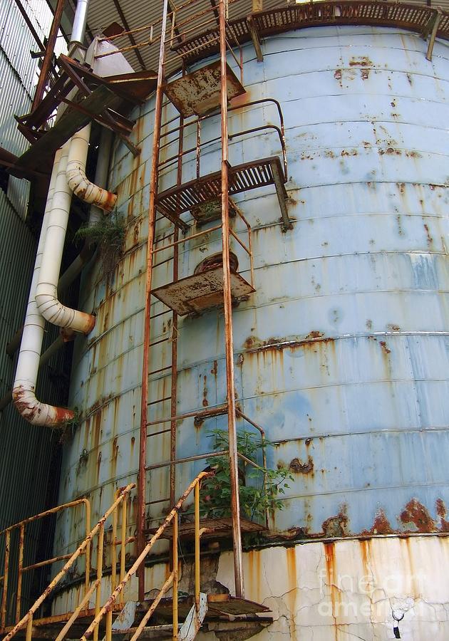 Factory Photograph - Old Storage Tank by Yali Shi