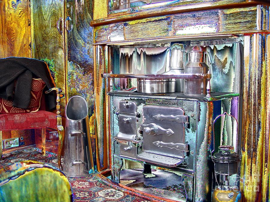 Old Photograph - Old Stove  by John Johnson