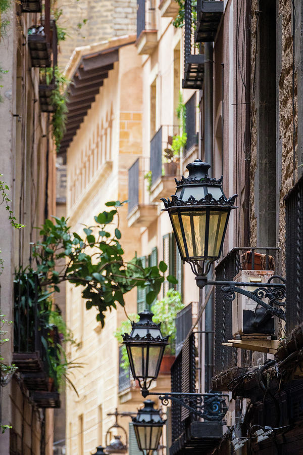 Architecture Photograph - Old Street Light In Barcelona, Spain by Blaz Gvajc