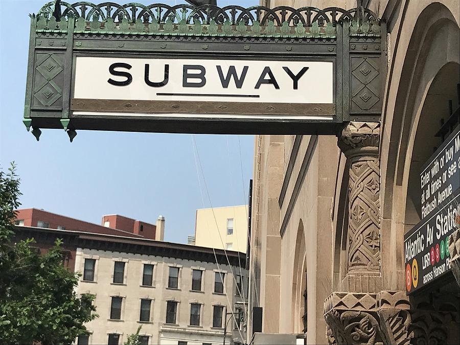 Old Subway sign of Brooklyn  by Liza Beckerman
