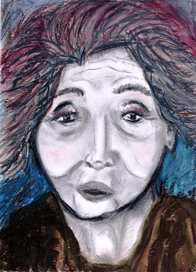 Face Drawing - Old Suchi by JuneFelicia Bennett