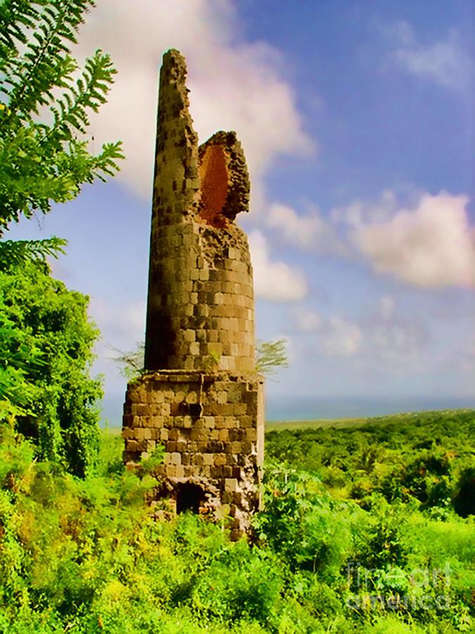 Nevis Photograph - Old Sugar Mill by Louise Fahy