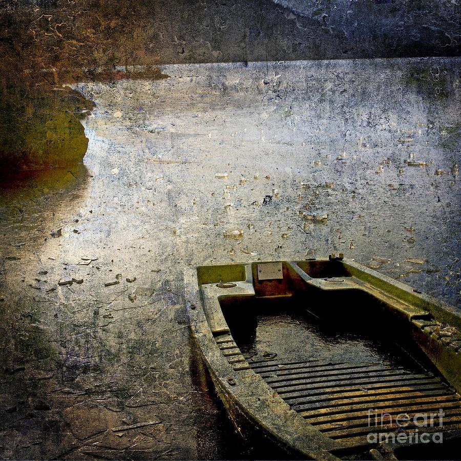 Bail Out Photograph - Old Sunken Boat. by Bernard Jaubert