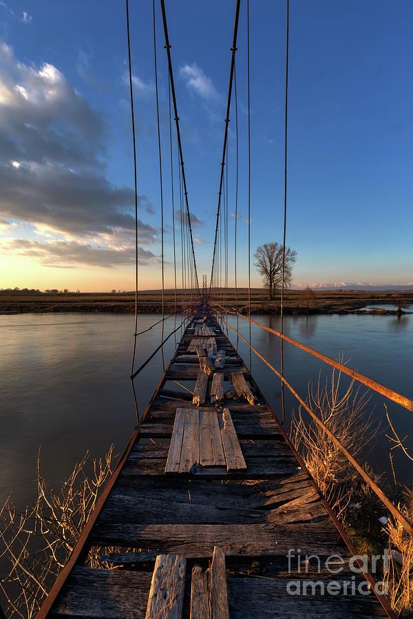 Adventure Photograph - Old Suspension Bridge by Nikolay Stoimenov