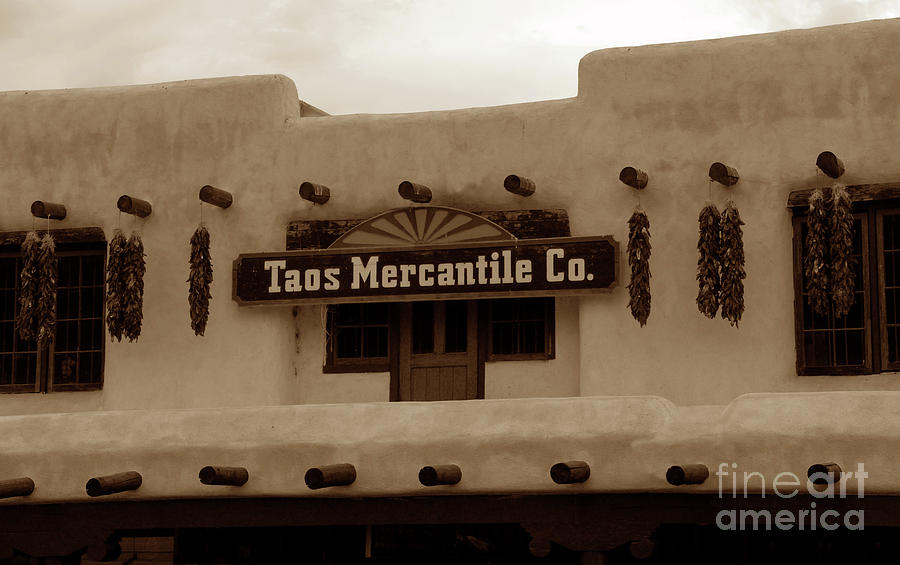 Sine Art Photography Photograph - Old Taos by David Lee Thompson