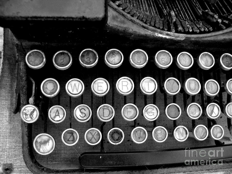 Typewriter Photograph - Old Tech Low Tech by Mark Grayden
