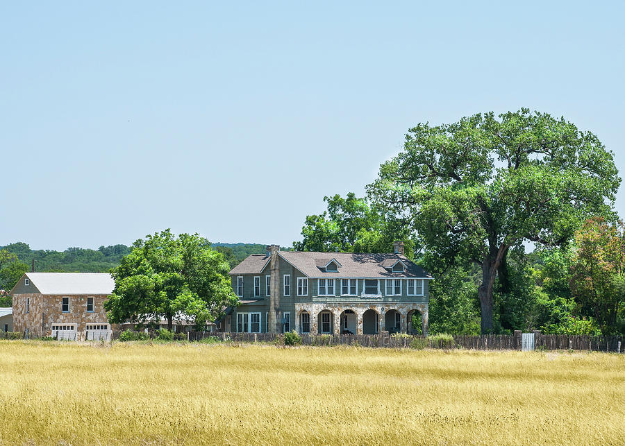 Texas Photograph - Old Texas Farm House by Brian Kinney