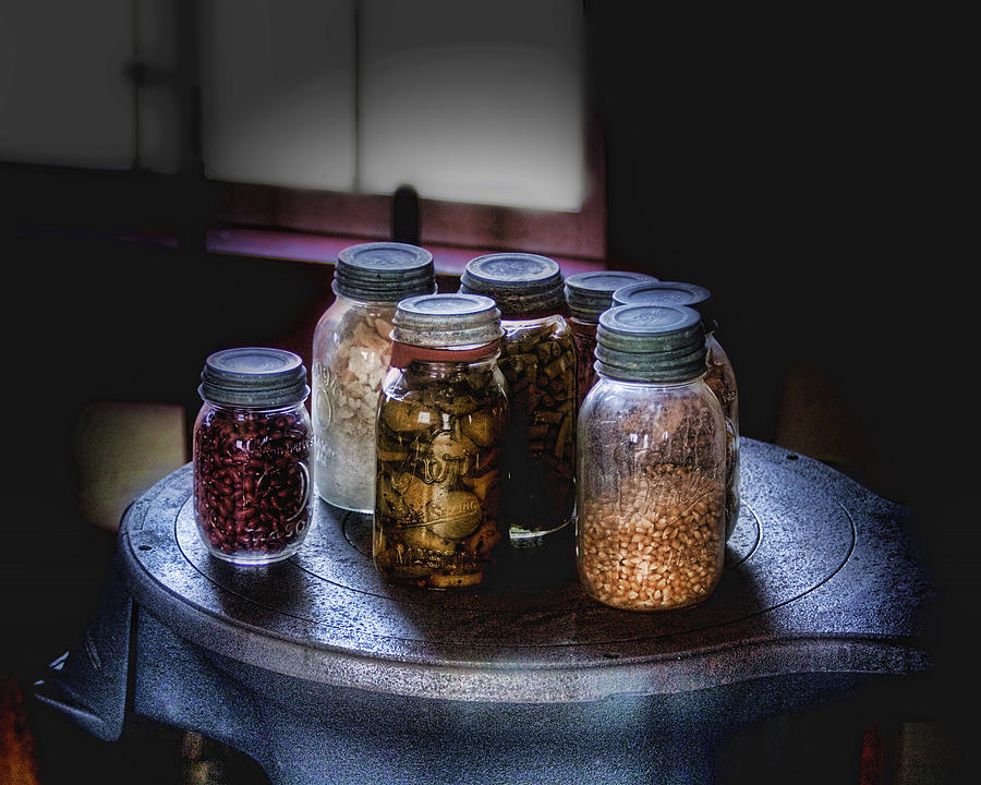 Canning Photograph - Old-time Canned Goods by Tom Mc Nemar