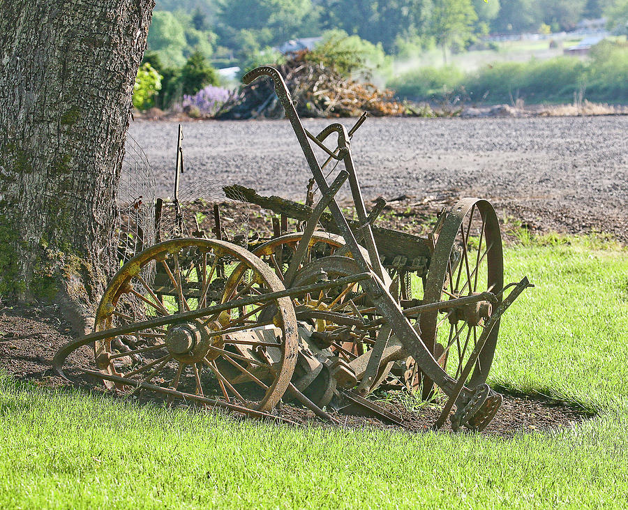 Plow Photograph - Old Time Plow by Liz Santie