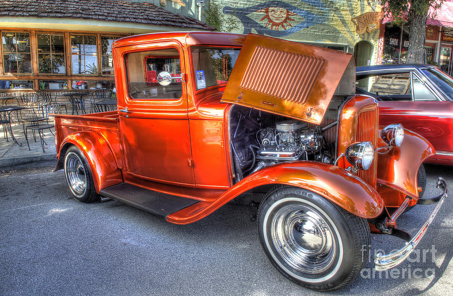 Old Timer Orange Truck by Mathias