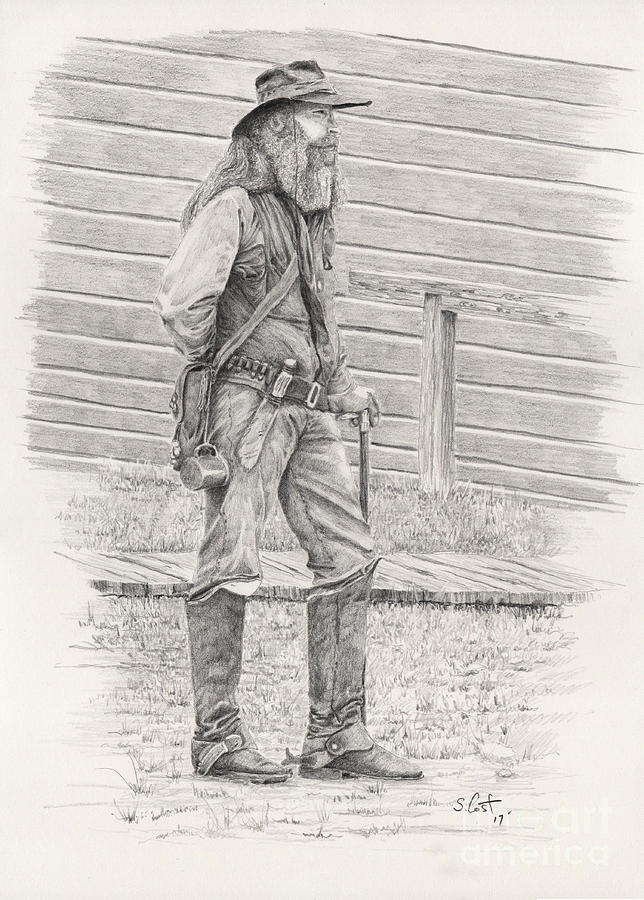 Pencil drawing old timer by steve cost