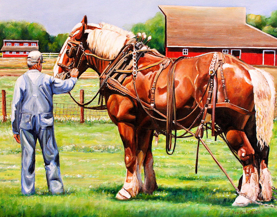 Belgian Painting - Old Timers by Toni Grote