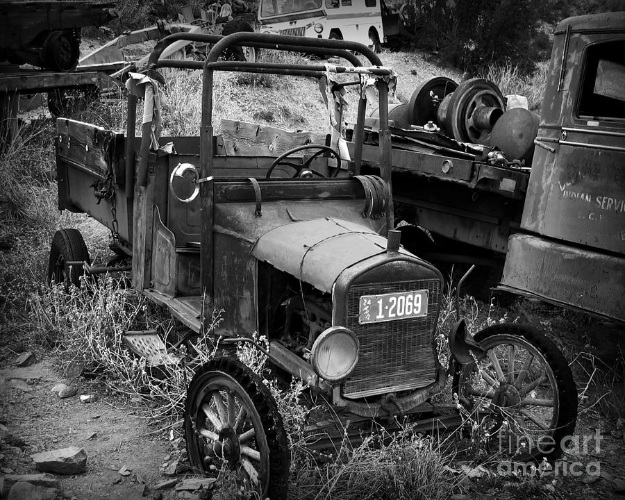Car Photograph - Old Times 2 by Perry Webster