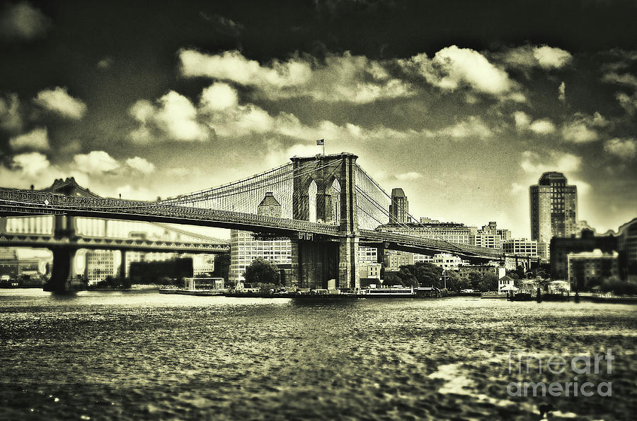 Manhattan Photograph - Old times in Brooklyn by Alessandro Giorgi Art Photography