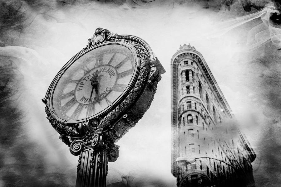 Flatiron Building Photograph - Old Times Sake by Az Jackson