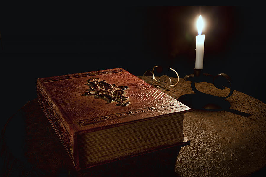 Book Photograph - Old Tome Still Life II by Tom Mc Nemar