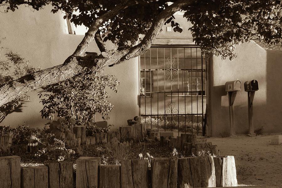 America Photograph - Old Town Albuquerque Pueblo In Sepia by Gregory Ballos