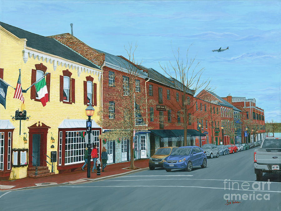Old Town Alexandria in December by Aicy Karbstein