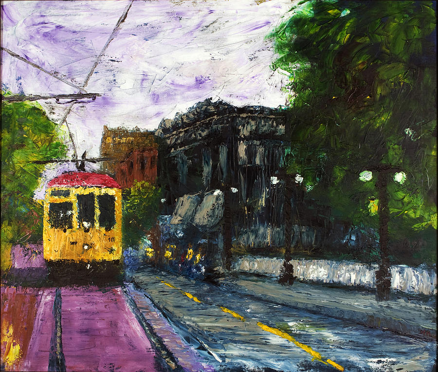 Trolley Painting - Old Town by David McGhee