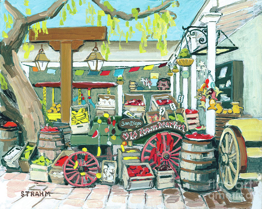 Old Town Market San Diego California by Paul Strahm