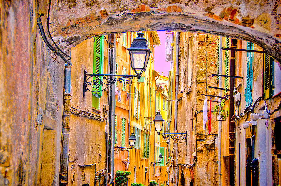 OLD TOWN NIZZA, SOUTHERN FRANCE by Monique Wegmueller