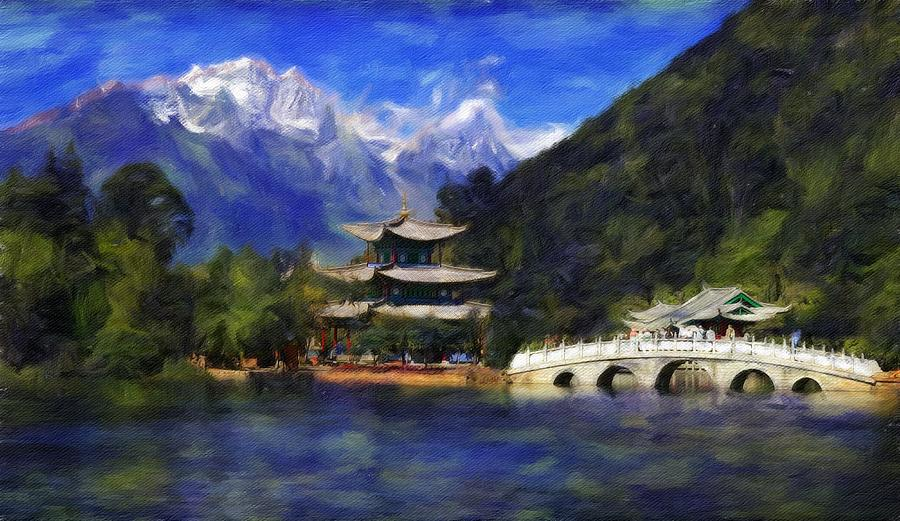 Online Gallery Painting - Old Town Of Lijiang by Vincent Monozlay