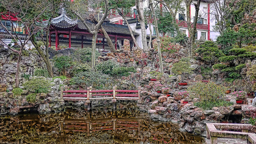 Rock Photograph - Old Town Rock Garden Shanghai by Barb Hauxwell