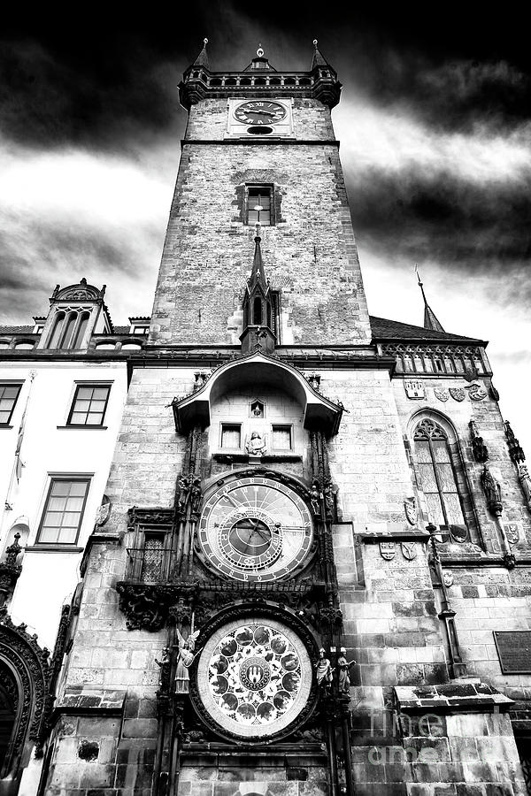 Clock Tower Photograph - Old Town Square Clock Tower by John Rizzuto