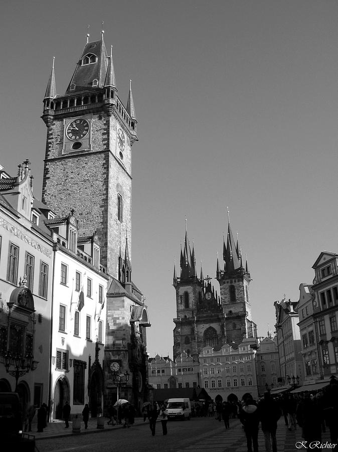 Prague Photograph - Old Town Square by Keiko Richter