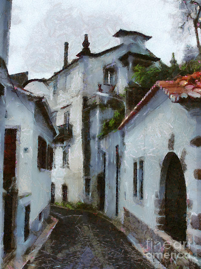 Painting Painting - Old Town Street by Dimitar Hristov
