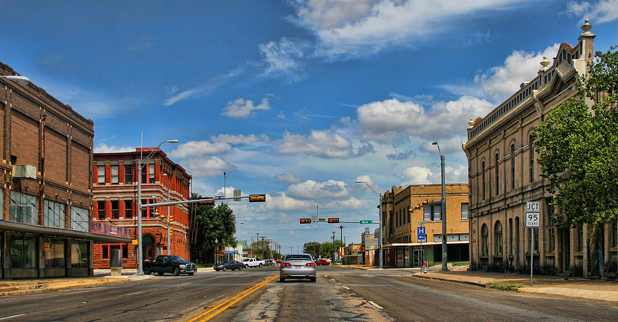 Small Town Photograph - Old Town Taylor Intersection by Linda Phelps