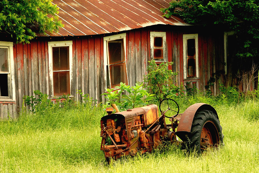 Tractor Photograph - Old Tractor by Iris Greenwell