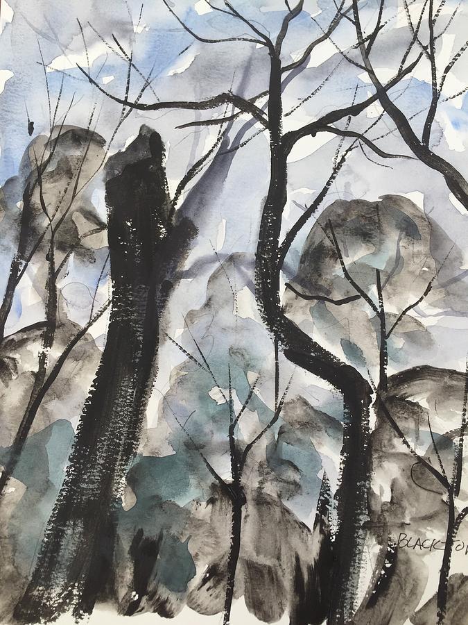 Old Tree Near Turkey Mountain Painting by Ken  Blacktop Gentle