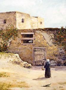 Old Tripoli Painting by Biki Chaplain