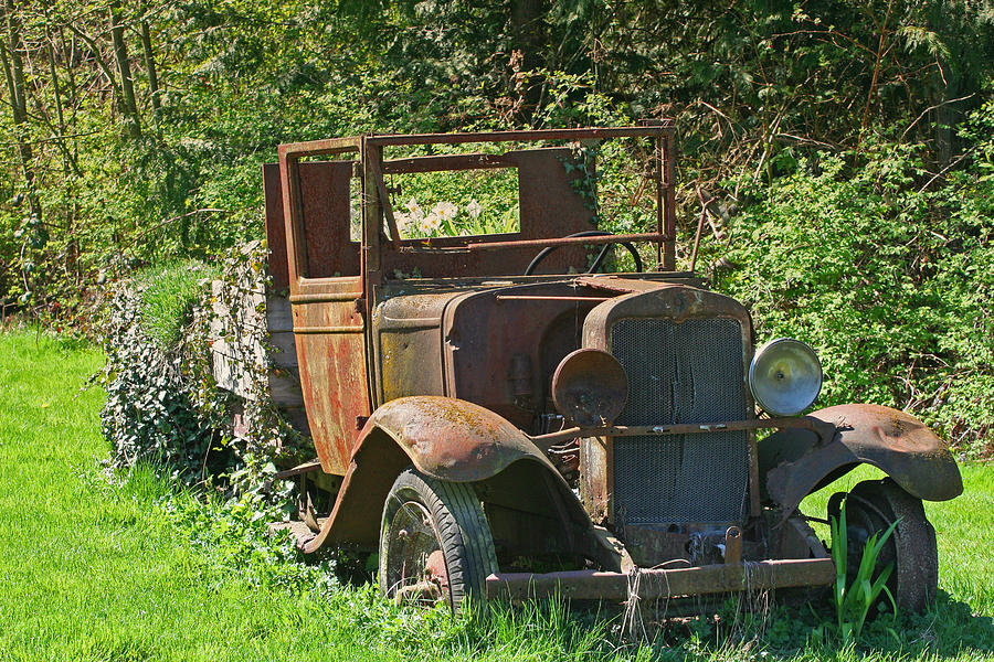 Old Truck Photograph - Old Truck II C1002 by Mary Gaines