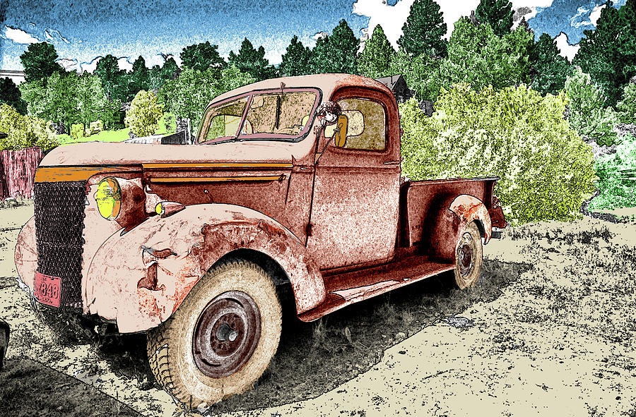 Old Truck Photograph by James Steele