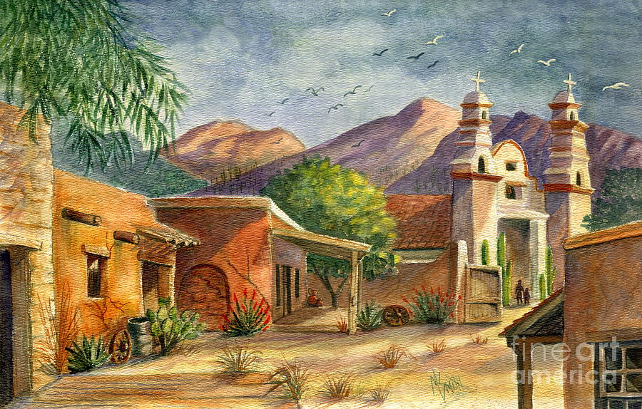 Old Tucson Painting By Marilyn Smith