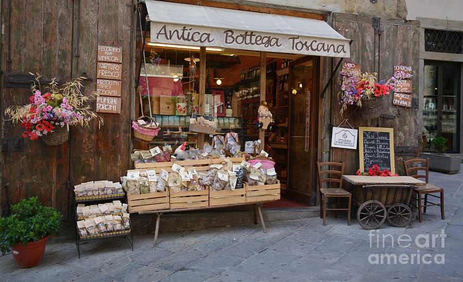 Tuscany Photograph - Old Tuscan Deli by Frank Stallone