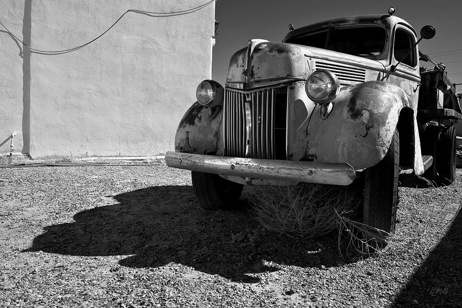 Auto Photograph - Old Vehicle Vii  Bw - Ford Truck by David Gordon