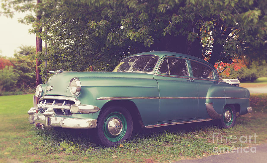 Old Vintage American Car Photograph by Edward Fielding