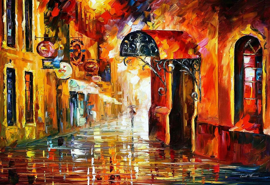 Two Streets - PALETTE KNIFE Oil Painting On Canvas By