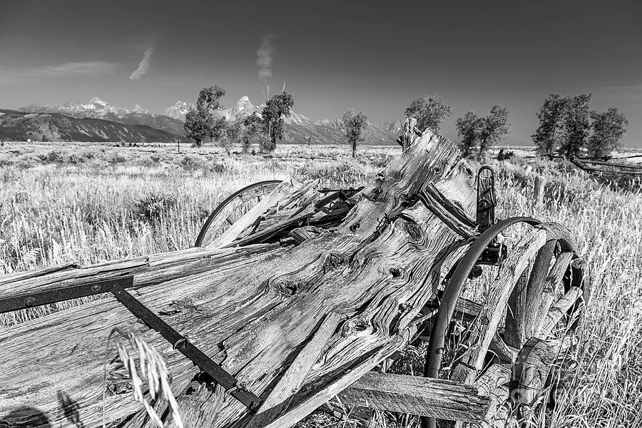Grand Tetons Photograph - Old Wagon, Jackson Hole by Daryl L Hunter