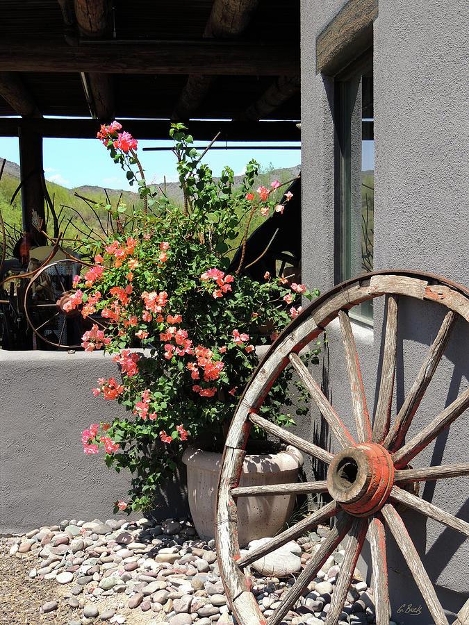 Gift Shop Photograph - Old Wagon Wheel by Gordon Beck