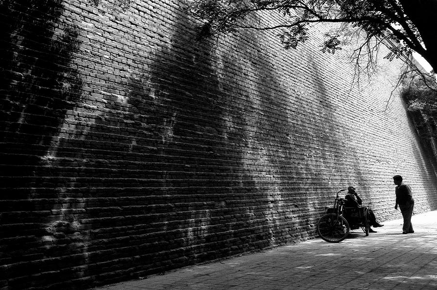 Black And White Photograph - Old Wall by Lian Wang
