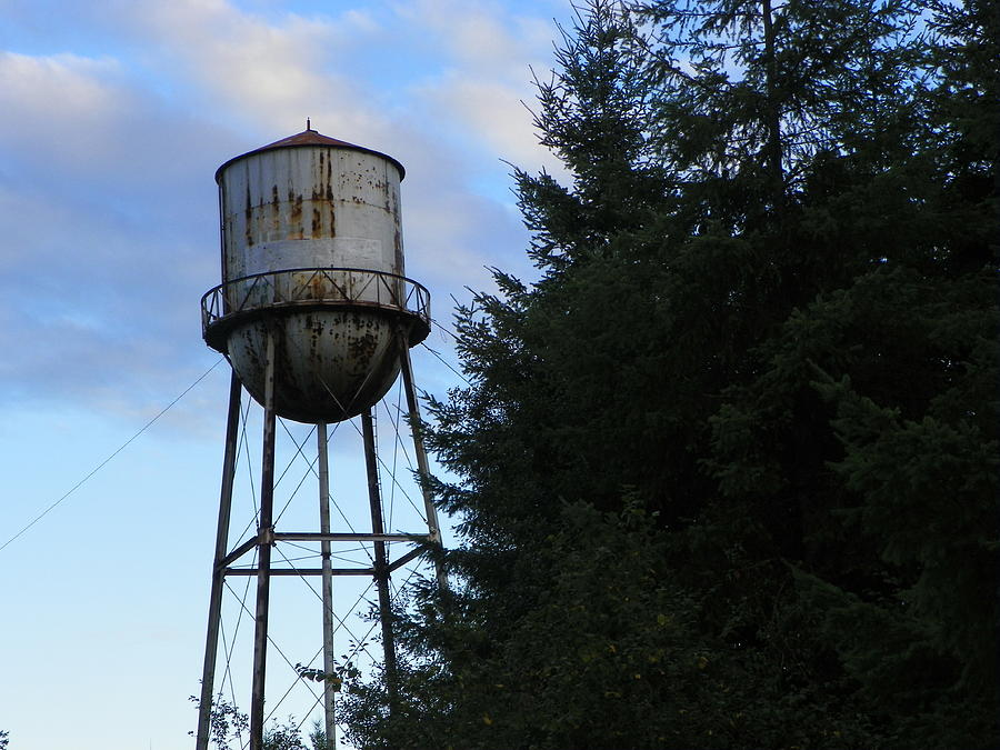 Digital Photography Photograph - Old Water Tower by Laurie Kidd